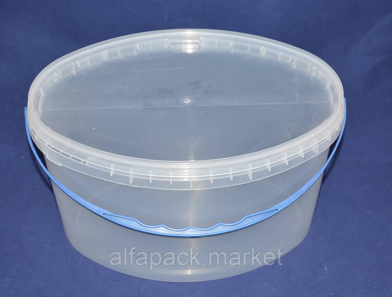 Ведро пластиковое пищевое 5,6 л. овал