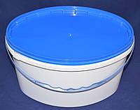 Ведро 5,6 л(овал) пластиковое для пищевых продуктов, белое, фото 1