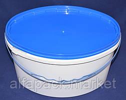 Ведро 5,6 л(овал) пластиковое для пищевых продуктов, белое 020000058