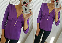 Блузка женская с шёлка фиолет (3 цвета) СО/-181