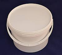 Ведро пластиковое пищевое белое 3 л.