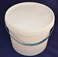 Ведро пластиковое пищевое белое 10 л.