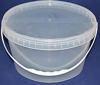 Ведро пластиковое пищевое овальное 11л