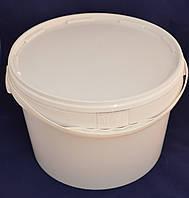 Ведро пластиковое пищевое белое 16л.