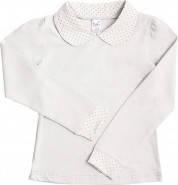 Белая блуза для девочки р.128-134