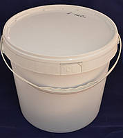 Ведро пластиковое пищевое белое 20 л. с крышкой