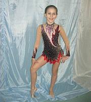 Купальник для художественной гимнастики (рост: 130 -140 см, для выступлений)