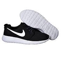 Мужские кроссовки Nike Roshe Run Black (41р) (найк)