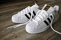 Мужские кроссовки Adidas Superstar White (адидас суперстар)