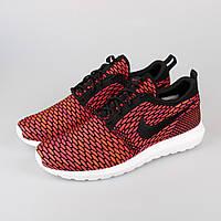 Мужские кроссовки Nike Flyknit Roshe Run Red  (найк)