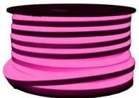 Неон светодиодный Led 220V IP68 розовый (LED Flex Neon)