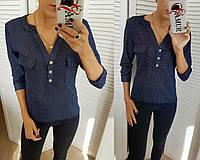 Блузка женская в горох (4 цвета) СО/-181