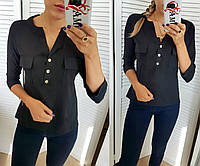Блузка женская черная (4 цвета) СО/-181