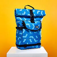 Женский модный рюкзак школьный синий Urban Planet B4 ARROWS SKY