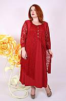 Платье большого размера Нимфа (2 цвета), нарядное платье большого размера