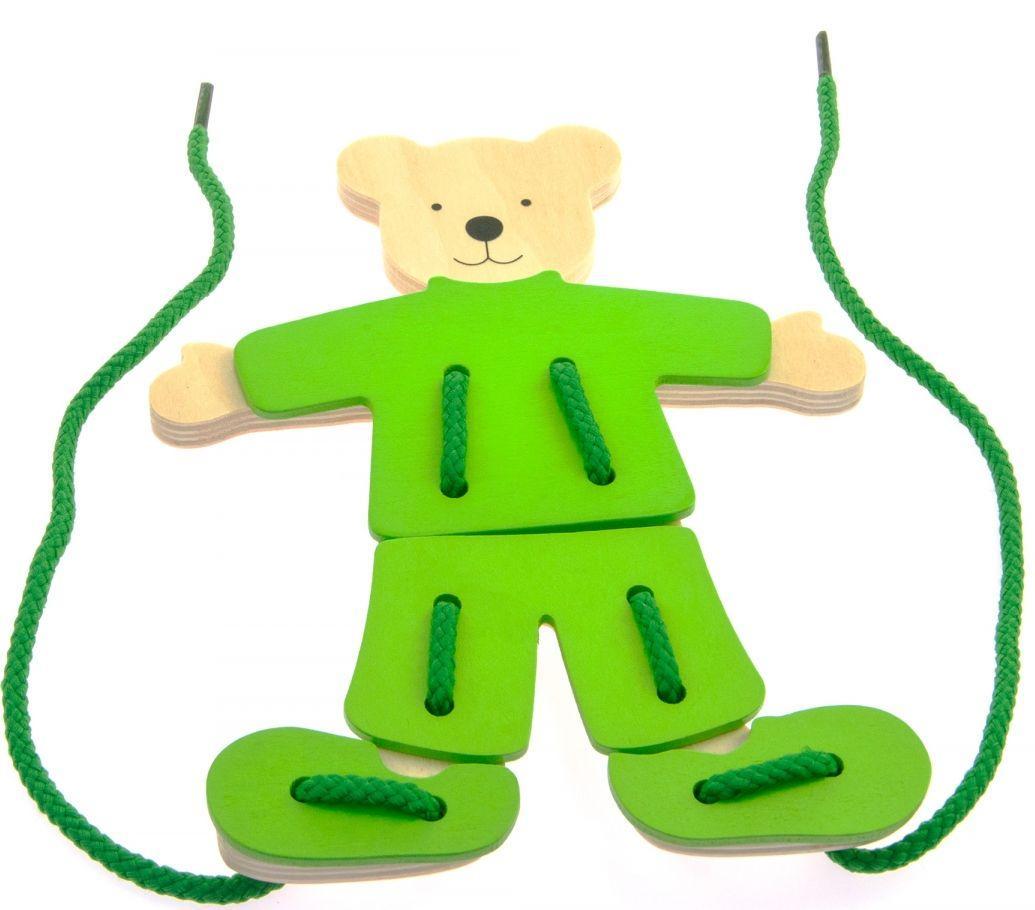 Развивающая игрушка Медведь с одеждой goki 58929