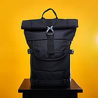 Мужской модный рюкзак школьный Urban Planet B4 ALL BLACK