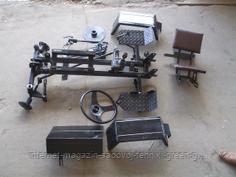 Комплект для переоборудования мотоблока Булат (регулируется ширина колеи, с дисковыми тормозами)