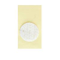 Липучка круглая на ленте БЕЛАЯ, 12 мм, Корея, Hook (жесткая часть)