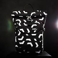 Мужской модный рюкзак для ноутбука Urban Planet B4 ARROWS BLK