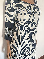 Платье белое узор