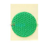Липучка круглая на ленте ЗЕЛЕНАЯ, 20 мм, Корея, Hook (жесткая часть)