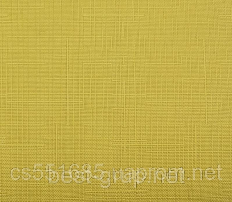 MSF-102 Жовтий (0,625 х 1,70 м) Linen ( Льон) -тканинні ролети Oasis Оазис