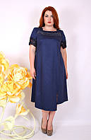 Платье коктейльное большого размера Стелла (2 цвета), нарядное платье большого размера