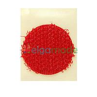 Липучка круглая на ленте КРАСНАЯ, 20 мм, Корея, Hook (жесткая часть)