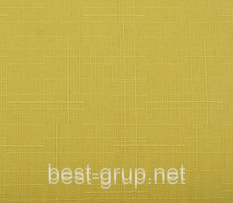 MSF-112 Жовтий (0,650 х 1,70 м) Linen ( Льон) -тканинні ролети Oasis Оазис