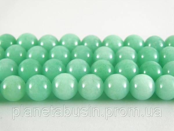 8 мм Нефрит Амазонит, CN289, Натуральный камень, Форма: Шар, Отверстие: 1мм, кол-во: 47-48 шт/нить