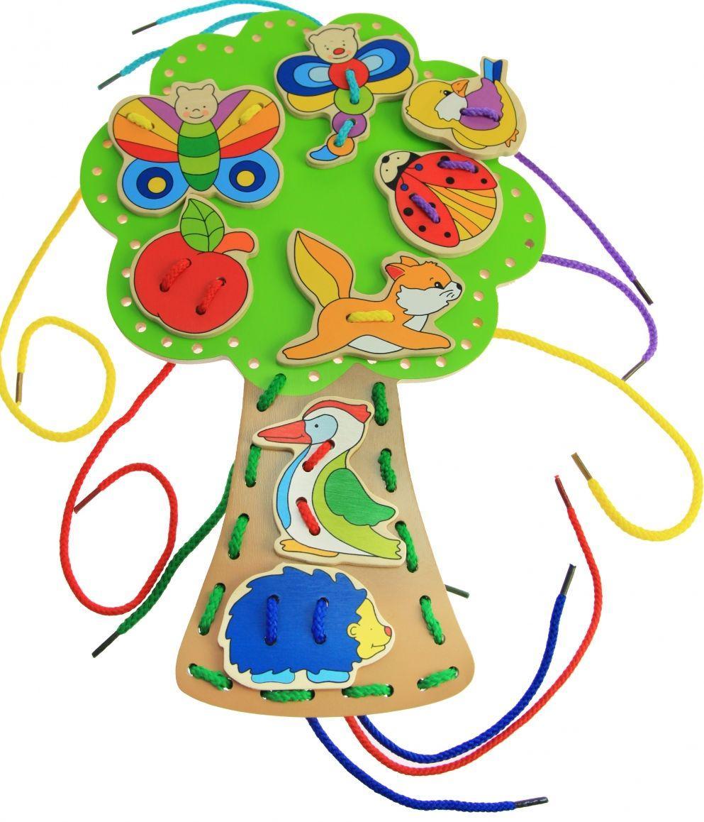 Развивающая игрушка Шнуровка Обитатели леса goki 58945