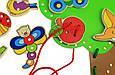 Развивающая игрушка Шнуровка Обитатели леса goki 58945, фото 4