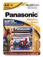 Батарейка Panasonic Alkaline Power Sticker Spider Man AA/LR06 BL 4 шт