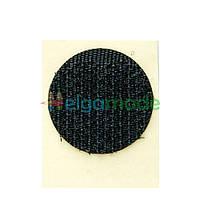 Липучка круглая на ленте ЧЕРНАЯ, 20 мм, Корея, Hook (жесткая часть)