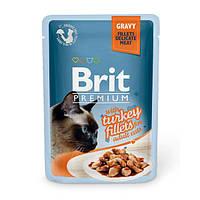 Brit Premium Turkey fillets in Gravy паучи для кошек с кусочками филе индейки в соусе, 85г