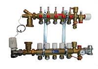 Giacomini Коллектор в сборе для систем напольного отопления 4 выхода