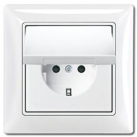 Розетка с заземлением, влагозащищенная IP44, белый - Abb Basic 55