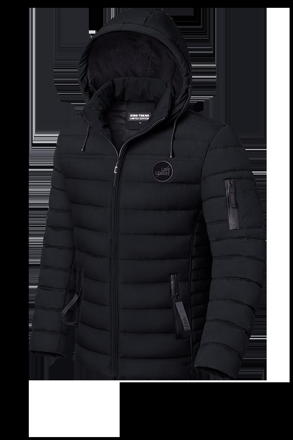 Мужская зимняя черная куртка (р. 48-56) арт. 8807С