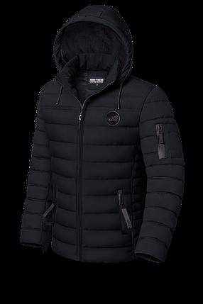 Мужская зимняя черная куртка (р. 48-56) арт. 8807С, фото 2