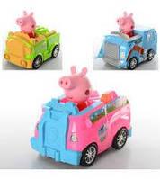 Машинка музыкальная с фигуркой Свинка Пеппа (Peppa Pig) XZ-372-73-74 A