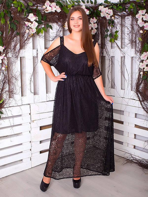 """Шикарное платье большого размера """"Пафос"""" с гипюром, цвета разные!"""