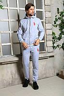 Мужской спортивный костюм Polo серый | Брендовые спортивные костюмы