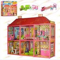 Кукольный дом 6983 2-х этажный с мебелью в коробке