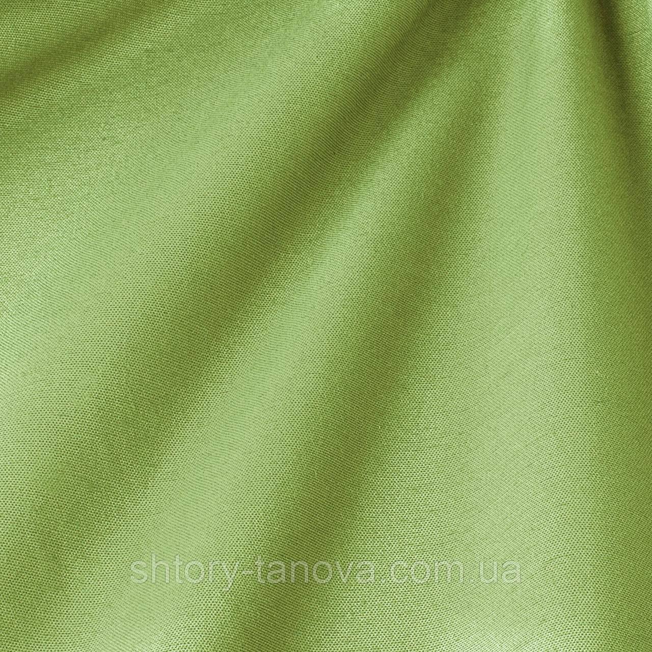 Декоративная ткань однотонная, бледно-зелёный