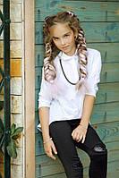 """Асимметричная детская блуза-рубашка для девочки """"Кира"""" с цепочкой (2 цвета)"""