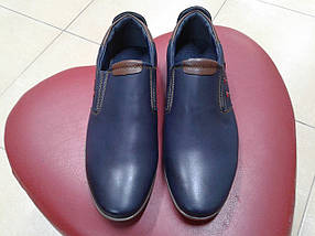 НОВИНКА! Туфли классические подросток из иск. кожи PALIAMENT  D 5712-1 синие           , фото 2