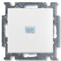 Вимикач 1-клавішний з підсвіткою, білий - Abb Basic 55