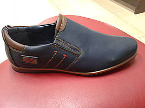 НОВИНКА! Туфли классические подросток из иск. кожи PALIAMENT  D 5712-1 синие           , фото 3