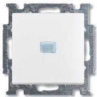 Выключатель проходной 1-клавишный с подсветкой, белый - Abb Basic 55